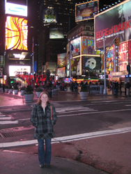Cassie in Times Square