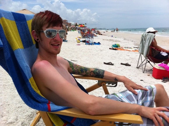 Chad at the Beach