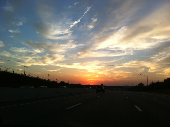 Sunset over Nashville Tennessee