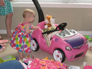 1st Birthday - A new car! And Hobbes!