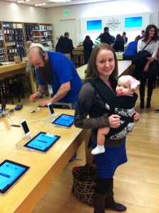 Baby's First Trip to Apple Store!