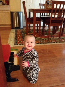 Playing the Piano at Her Nanny's House